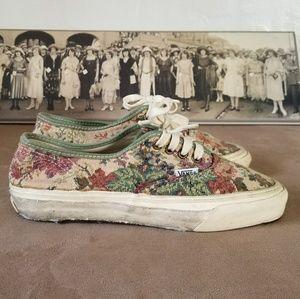 Amazing 90s True Vintage Vans Tapestry Sneakers 8